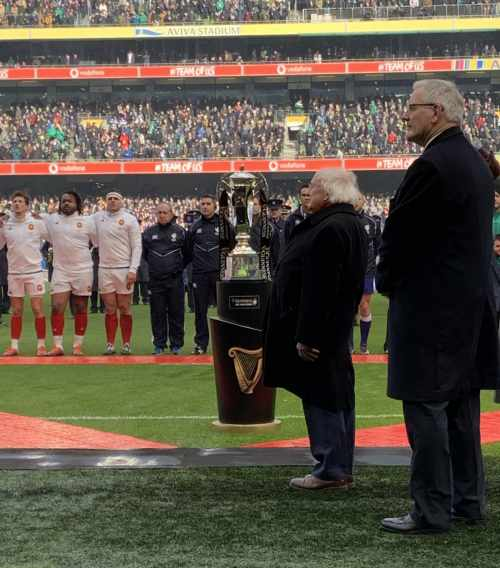 President attends Ireland Vs France 2019 Six Nations Championship