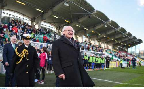 President Attends 2019 Fifa Women's World Cup Qualifier Match Between Republic Of Ireland And Slovakia