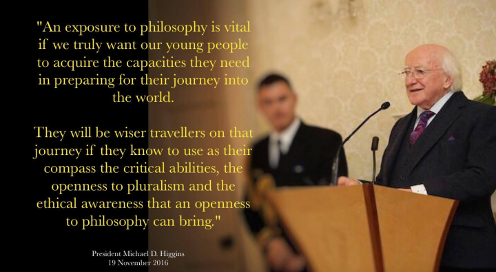 President hosts a reception for members of Philosophy Ireland
