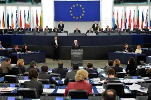 President Higgins addresses the European Parliament