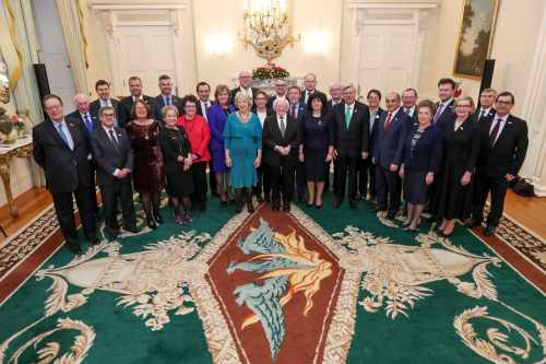 President and Sabina host a reception for International Speakers and Members of Parliament