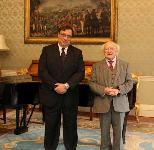 President receives the Ambassador of Spain on a Farewell Courtesy Call