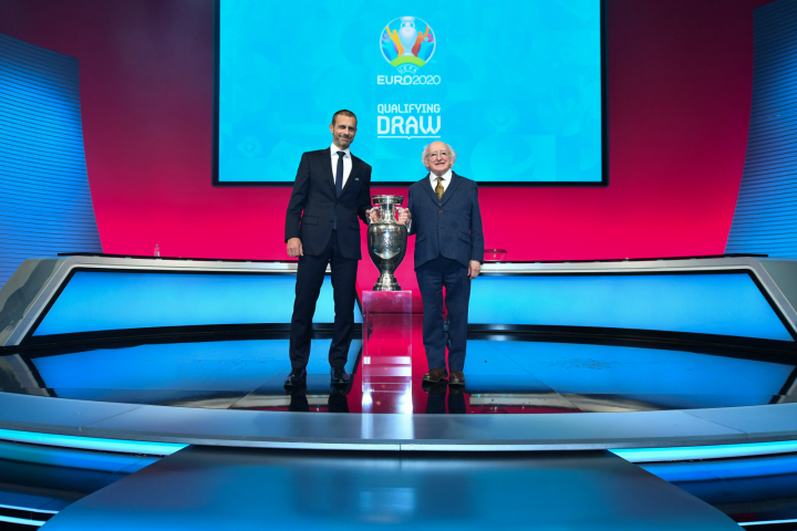 President attends the Euro 2020 Qualifying Draw