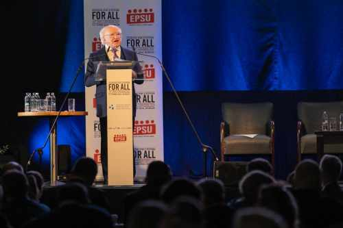 President speaks at the Congress of the European Federation of Public Service Unions