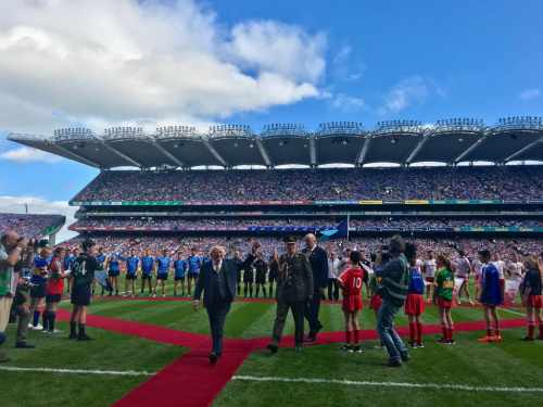 President attends GAA Football All-Ireland Senior Football Championship Finals between Dublin and Tyrone