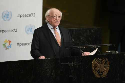 President Higgins addresses the UN General Assembly