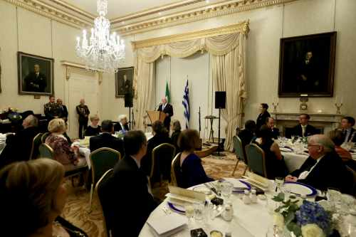 President hosts a State Dinner in honour of H.E. Mr. Prokopios Pavlopoulos, President of the Hellenic Republic and Mrs. Vlassia Pavlopoulou