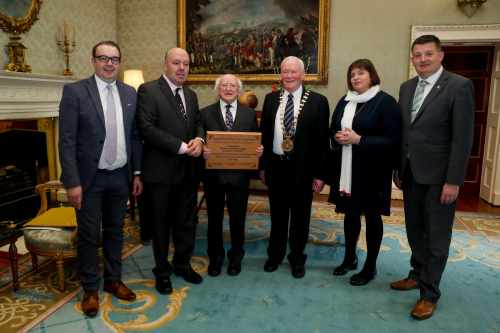 President receives the Association of Irish Local Governments