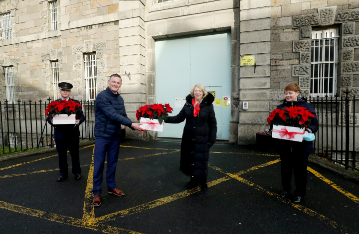 Sabina Higgins visits a number of prisons in the Dublin area