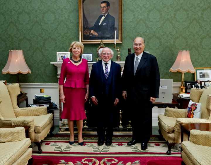 President and Sabina receive His Highness the Aga Khan on a courtesy call