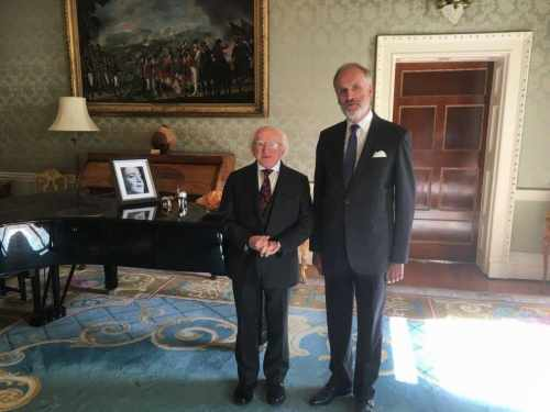 President receives H.E. Mr Phillippe Roland, Ambassador of Belgium to Ireland on a farewell…