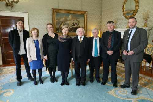 Pic shows a group of invited guests with the president