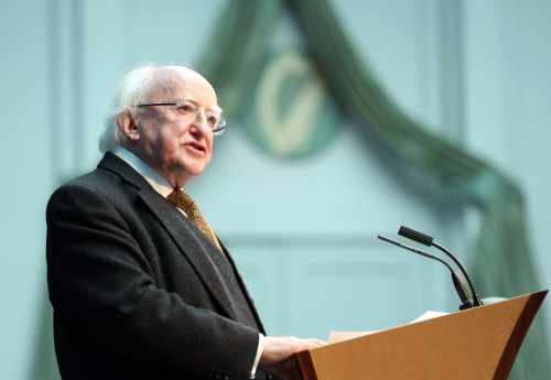 Pic shows President Michael D.Higgins as he delivered his keynote address.