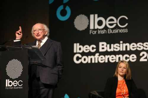 President addresses the Ibec Business Leaders conference