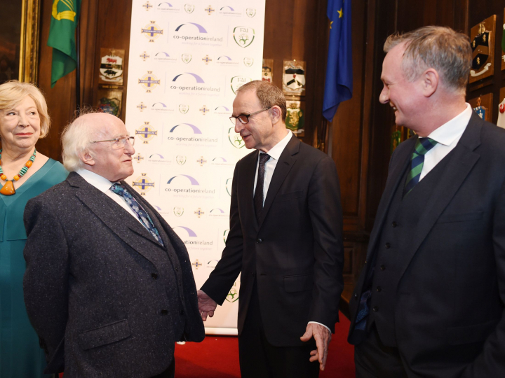 President attends Co-operation Ireland Gala Dinner