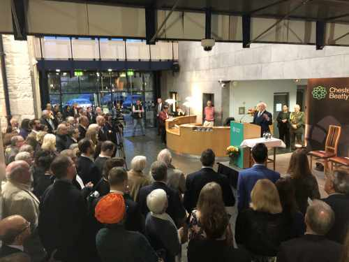 President Officially Opens The 'gift Of A Lifetime. Treasures From Chester Beatty's Collection' Exhibition