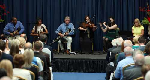 President and Sabina host an evening with Cuban and Irish Uilleann Pipers