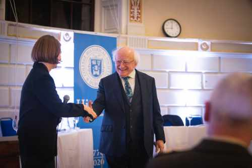 President attends opening of HIST250, TCD Historical Society 250th Anniversary Programme