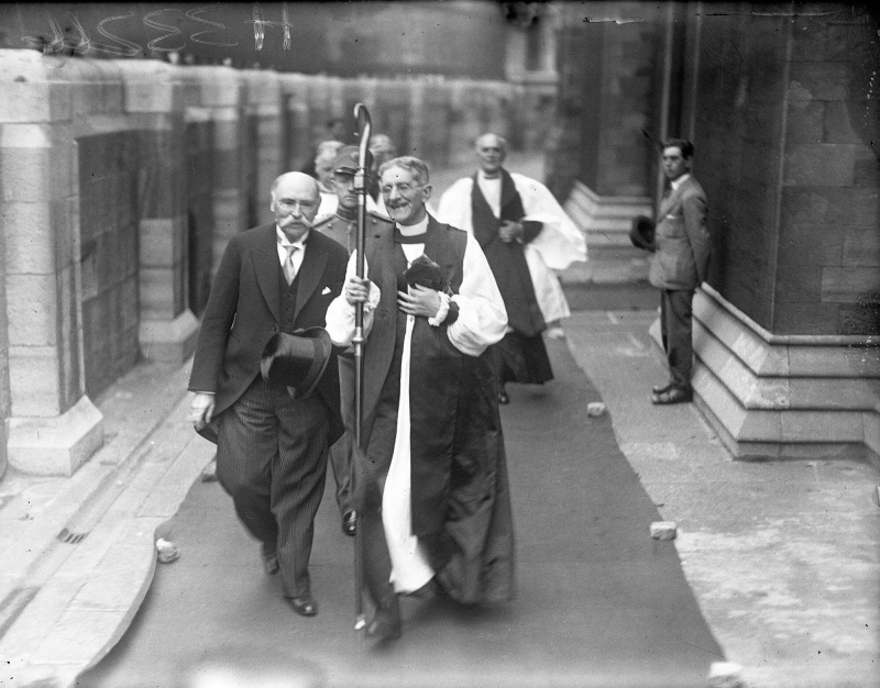 Dr Douglas hyde installed as President of Ireland Dr Hyde with Most Rev Dr Gregg 25 June 1938 Courtesy Irish Independent News and Media plc