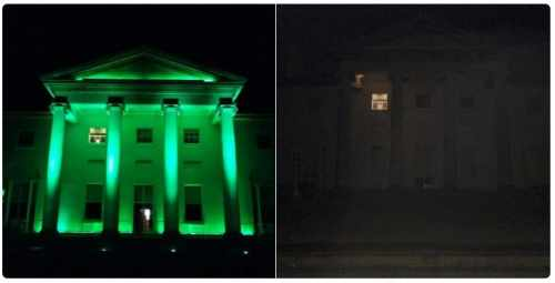 President and Sabina Higgins mark Earth Hour by switching off the lights at Áras an Uachtaráin