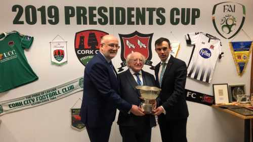 President attends the President's Cup match