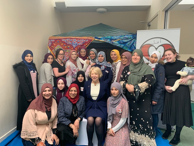 Sabina attends Amal Women's Association event celebrating International Women's Day