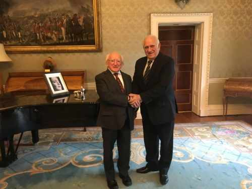 President receives H.E. Mr. Hermes Herrera Ambassador of Cuba to Ireland on a farewell courtesy call