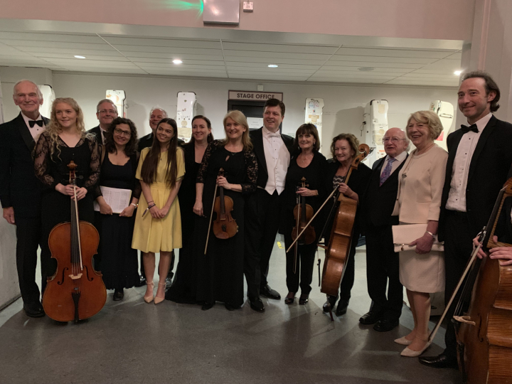 President and Sabina attend 'Frank Patterson - Ireland's Golden Tenor' gala concert