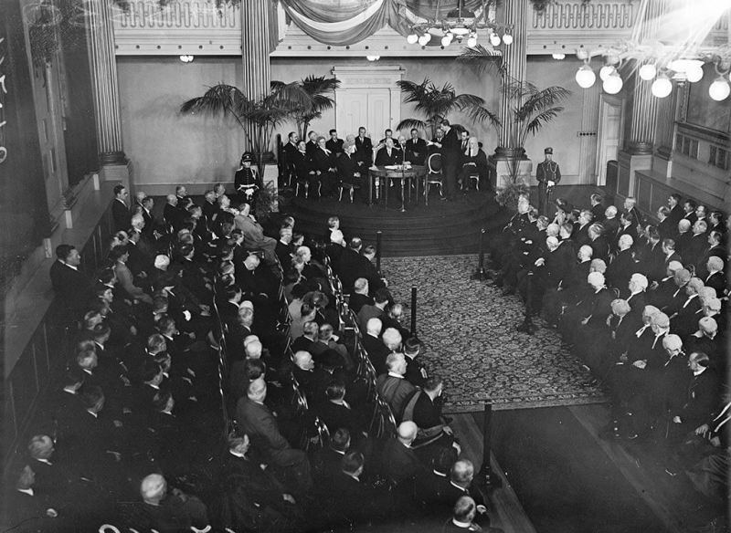 IND_H_3330 16934 Douglas Hyde Inauguration 25 June 1938 St Patricks Hall Dublin Castle