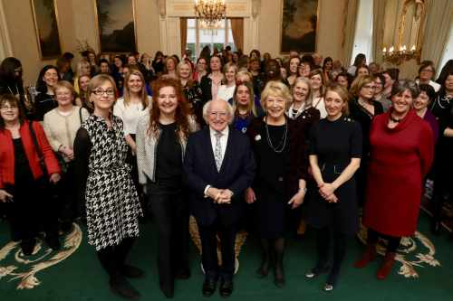 "President and Sabina host a ""Women In The Sciences"" reception, marking International Women's Day"