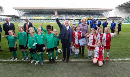 President and Sabina visit IFA Headquarters at Windsor Park