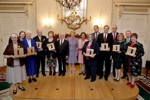 President presents the Distinguished Service Awards for the Irish Abroad 2018
