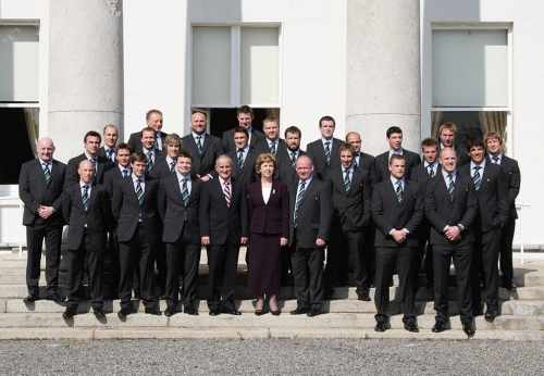 Irish Rugby Team visit the Áras as Grand Slam Winners