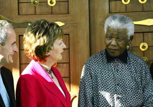 President McAleese meets with Nelson Mandela, Mozambique