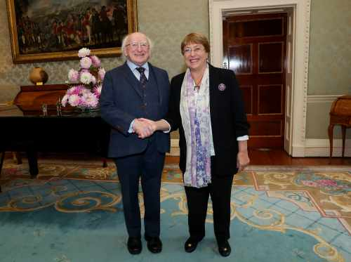 President receives Ms. Michelle Bachelet, United Nations High Commissioner for Human Rights