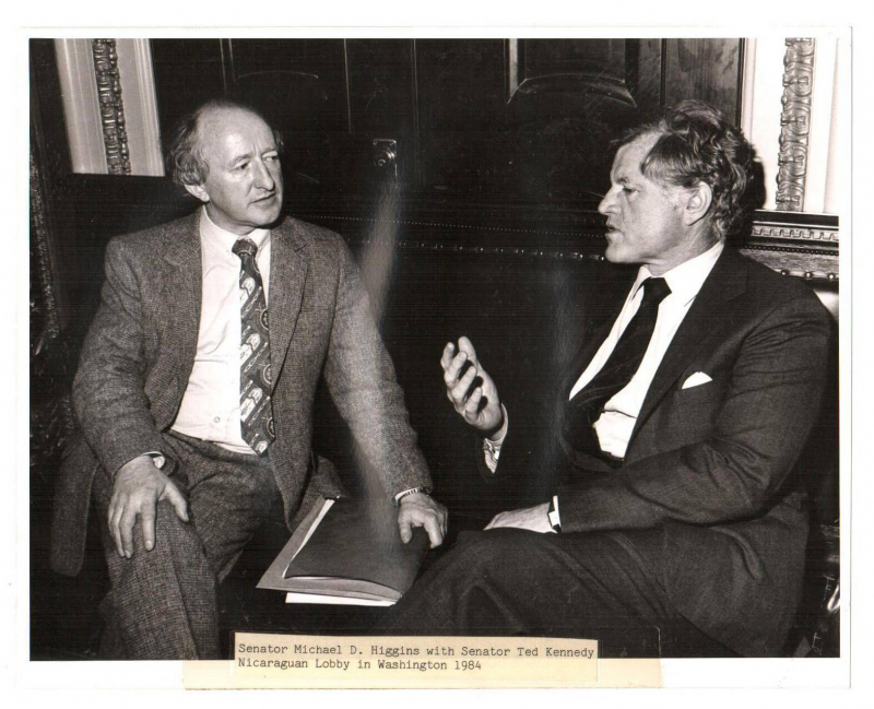 Senator Michael D. Higgins with Senator Ted Kennedy, Nicaraguan Lobby, Washington 1984