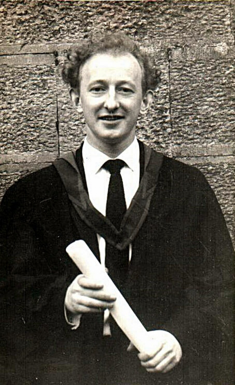 Michael D graduated from UCG with a BA in 1965 and a BComm in 1966