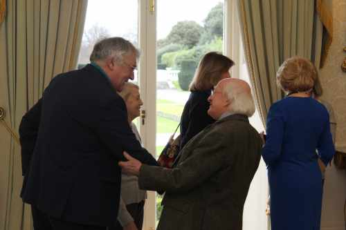 Members of the Northern Ireland Heritage Gardens Trust visited  Áras an Uachtaráín.