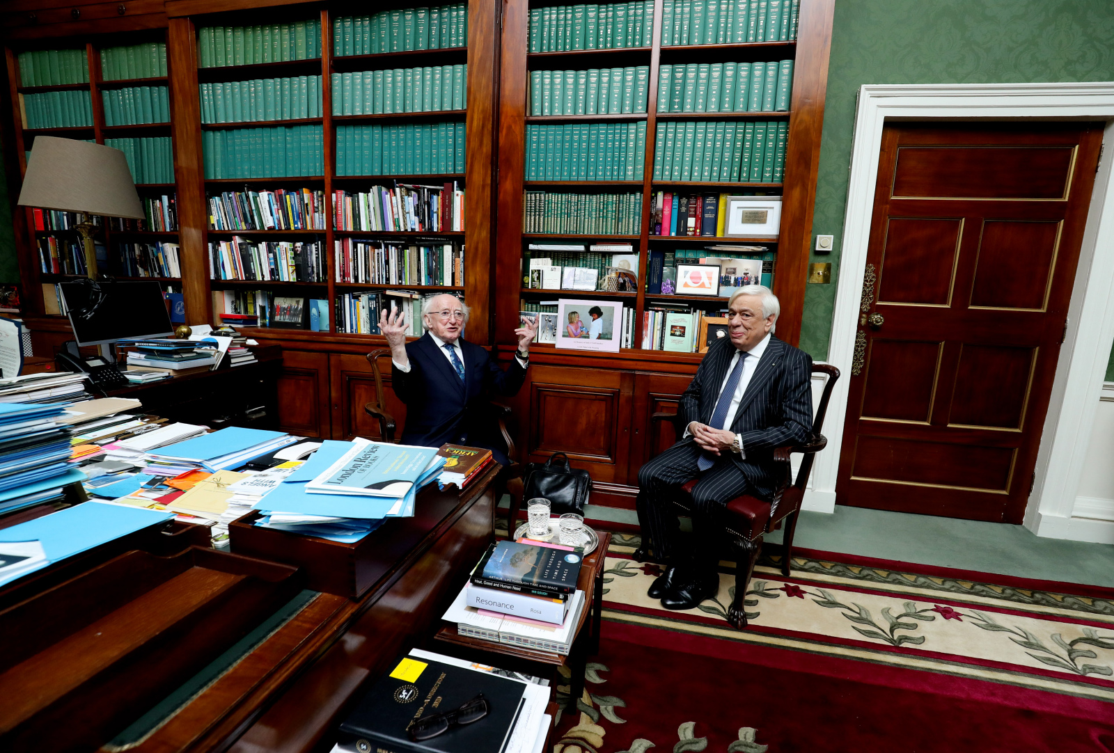 President welcomes H.E. Mr. Prokopios Pavlopoulos, President of the Hellenic Republic