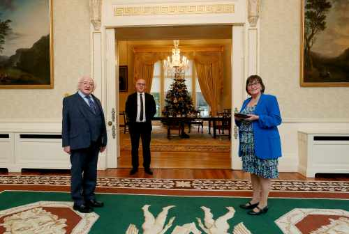 President receives new Laureate na nÓg Áine Ní Ghlinn on a courtesy call
