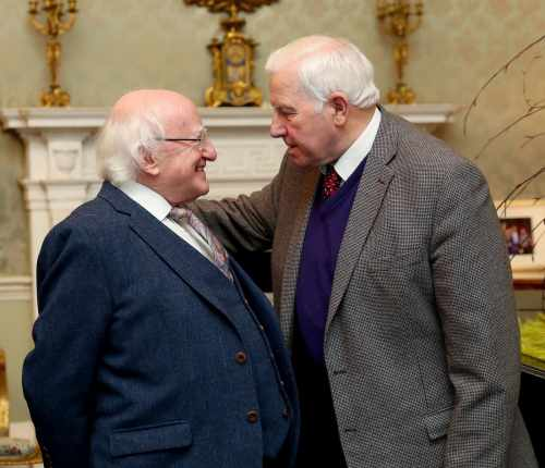 President Higgins hosts an event to grant a posthumous pardon to Mr. Maolra Seoighe