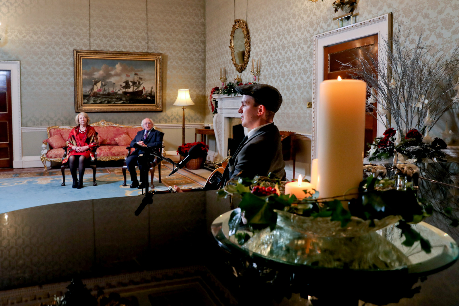 President Higgins and Sabina host New Year's Eve performance
