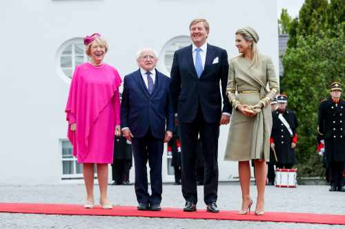 President Higgins welcomes their Majesties King Willem-Alexander and Queen Máxima of The Netherlands