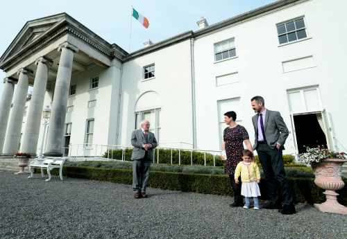 President meets Dr Liz O'Sullivan, from Baby Feeding Law Group Ireland (BFLGI)
