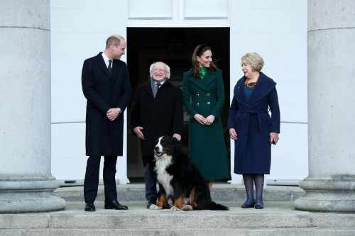 President welcomes T.R.H The Duke of Cambridge and The Duchess of Cambridge at the start of their official visit