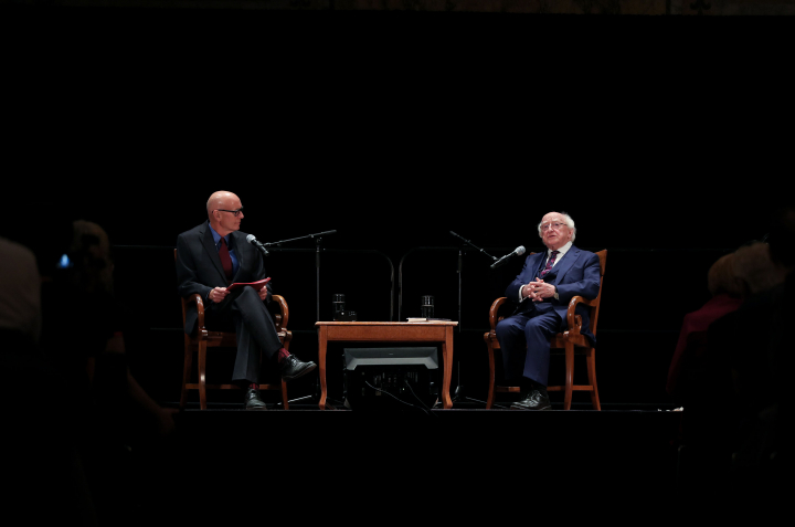 President participates in 'In Conversation' event at New York Public Library