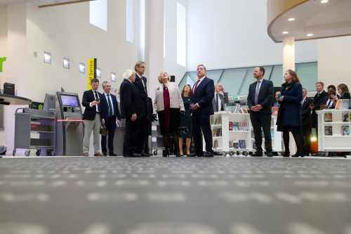 President and Sabina visit Liverpool Central Library