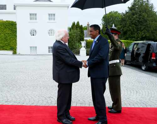 President receives H.E Mr. Daniel Faure, President of Seychelles