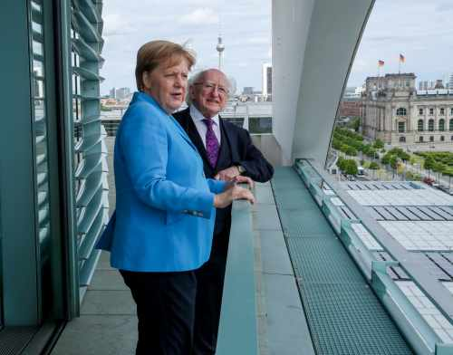 President meets Dr. Angela Merkel, Chancellor of The Federal Republic of Germany