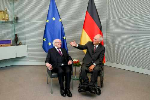President meets Mr. Wolfgang Schäuble, President of the Bundestag
